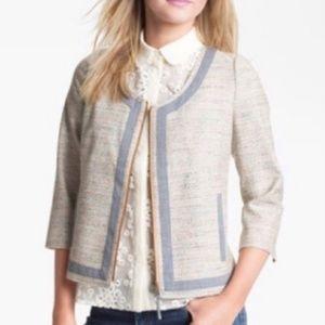 Nordstrom Hinge Tweed Zipper Blazer Jacket S